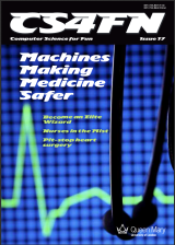 Magazine cover for cs4fn's special issue on medical devices and patient safety