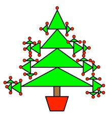 ChristmasTreeManyTrianglesDoodleSolution