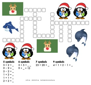 maths-kriss-kross1-christmasV1