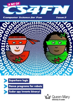 A bit of CS4FN - issue 2 cover, a free computing magazine for primary-aged children