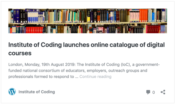Institute of Coding launches online catalogue of digital courses