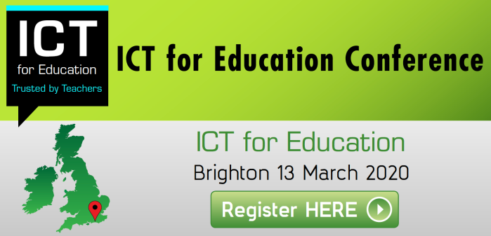 ICT for Education Conference in Brighton on 13 March 2020